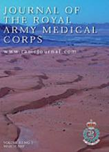 Journal of the Royal Army Medical Corps: 153 (1)