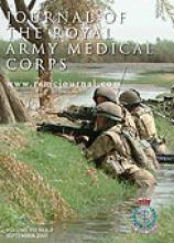 Journal of the Royal Army Medical Corps: 153 (3)