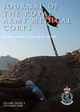 Journal of the Royal Army Medical Corps: 154 (3)