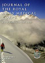 Journal of the Royal Army Medical Corps: 157 (1)