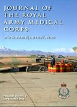 Journal of the Royal Army Medical Corps: 157 (3)