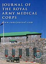 Journal of the Royal Army Medical Corps: 157 (4)