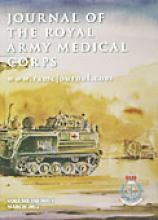 Journal of the Royal Army Medical Corps: 158 (1)