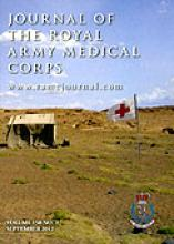 Journal of the Royal Army Medical Corps: 158 (3)