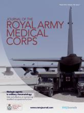 Journal of the Royal Army Medical Corps: 159 (1)