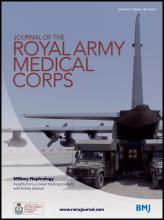 Journal of the Royal Army Medical Corps: 159 (2)