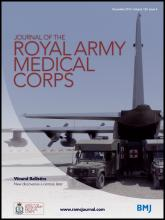Journal of the Royal Army Medical Corps: 159 (4)