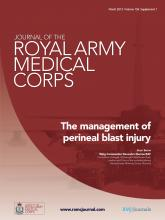 Journal of the Royal Army Medical Corps: 159 (suppl 1)