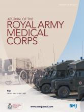 Journal of the Royal Army Medical Corps: 160 (1)