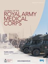 Journal of the Royal Army Medical Corps: 160 (3)