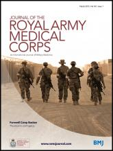 Journal of the Royal Army Medical Corps: 161 (1)