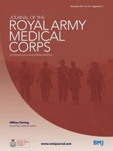 Journal of the Royal Army Medical Corps: 161 (Suppl 1)