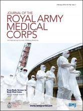 Journal of the Royal Army Medical Corps: 162 (1)