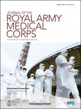 Journal of the Royal Army Medical Corps: 162 (4)
