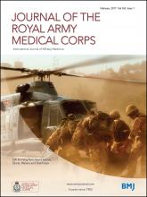 Journal of the Royal Army Medical Corps: 163 (1)