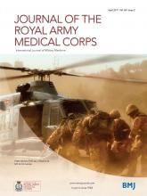 Journal of the Royal Army Medical Corps: 163 (2)