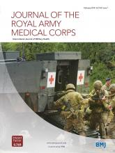 Journal of the Royal Army Medical Corps: 164 (1)