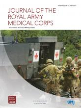Journal of the Royal Army Medical Corps: 164 (6)