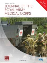 Journal of the Royal Army Medical Corps: 165 (1)