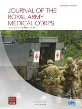 Journal of the Royal Army Medical Corps: 165 (5)